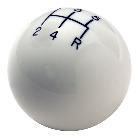 Hurst White Shift Knob by Hurst 1630008 Classic Shifter Knob 5 Speed White 3 8 16