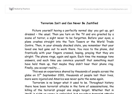 war on terror research paper terrorism isn t and can never be justified gcse