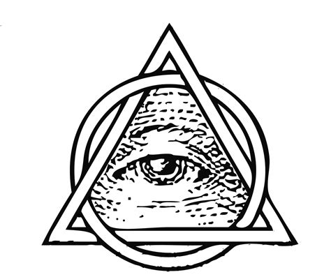 illuminati tattoo png all seeing eye pyramid black and white www imgkid com