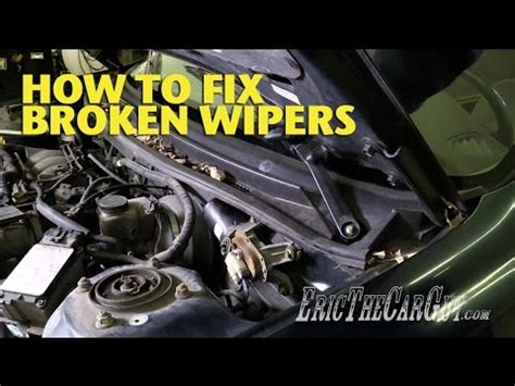 how to fix broken windshield wiper linkage youtube how to fix broken wipers ericthecarguy youtube