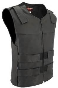 Vest Bullet Club Wpcw made in usa bullet proof style perforated leather motorcycle biker club vest ebay