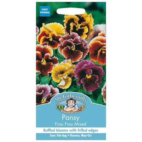 Mr Fothergills Pansy Frou Frou Mixed jual benih pansy frou frou mixed 75 biji mr fothergills bibit