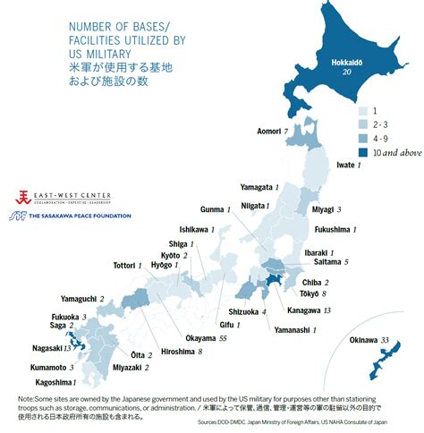 bases in usa map japan map us bases