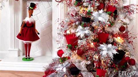 arboles de navidad blanco decoracion decorando 193 rbol de navidad en blanco y rojo ideas