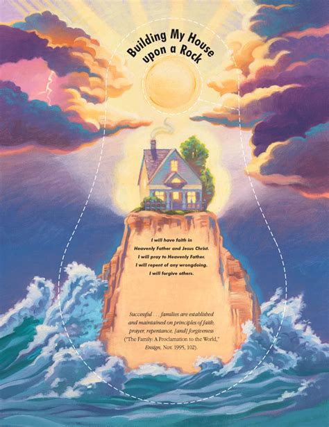 Build Your House On The Rock by Lesson 12 The House Built On A Rock Lds Lesson Ideas