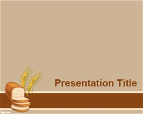 powerpoint themes bread bakery powerpoint template