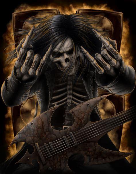 imagenes de calaveras heavy metal 47 obras de las calaveras de miedo asombrosas y mortales