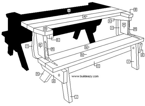 folding picnic table bench plans free free woodworking plans folding picnic table quick woodworking projects