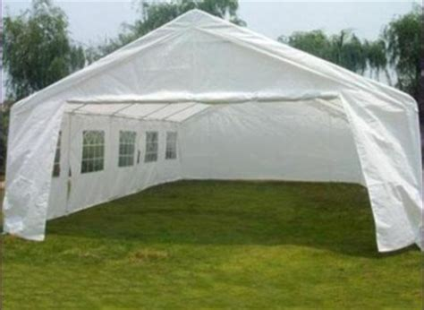 Garage Tent by 20 X 32 Large White Heavy Duty Portable Garage Carport