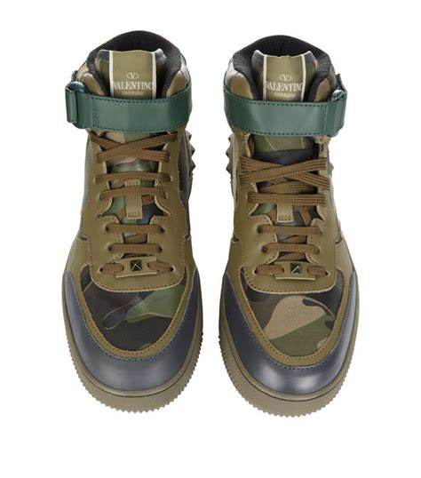 10 Best Valentino Shoes by Valentino Rock B Camo High Top Sneaker In Green Lyst