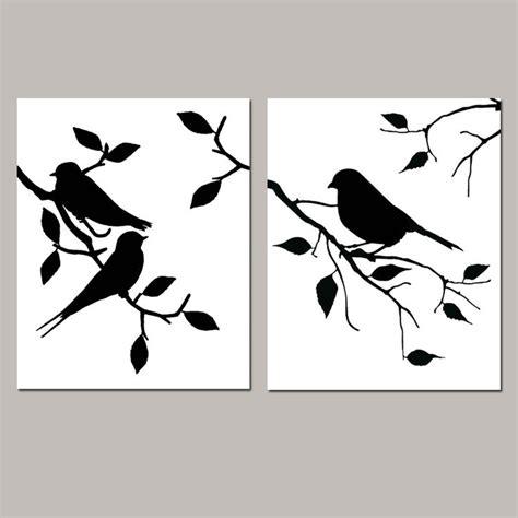 printable wall stencils birds birds on a branch stencil www pixshark com images
