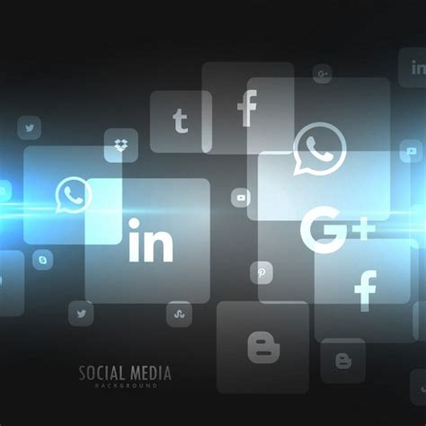 media background background of social media icons vector free