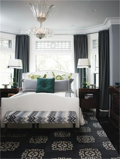 lovely Decorating The Wall Behind Your Headboard #2: bed-under-window-in-gray-bedroom-houseandhome1.jpg
