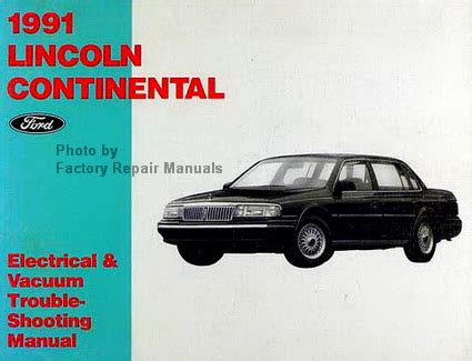 how to download repair manuals 1991 lincoln continental mark vii parental controls 1991 lincoln continental electrical and vacuum troubleshooting manual original evtm factory