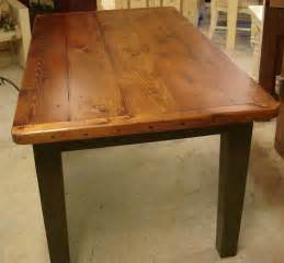 Amish Kitchen Furniture Plank Farm Table Breadboard Ends Dutchcrafters Dining Tables