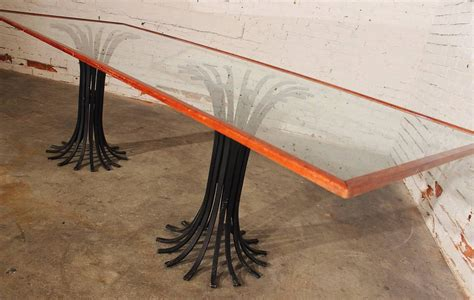 double pedestal glass top dining table double iron pedestal glass top dining table hollywood