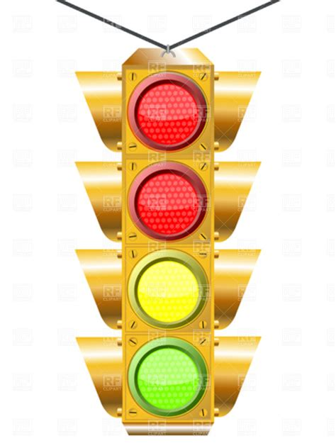 four lights traffic light with four lights vector clipart image 4274 rfclipart