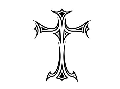 easy cross tattoo designs simple cross design clipart best