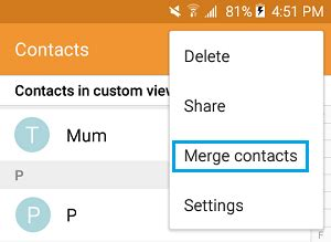 android merge contacts how to remove duplicate contacts on android phone