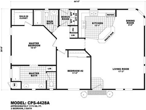 cavco floor plans cps 4428a homes direct