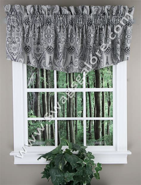 paisley valance curtains paisley pizzazz ascot valance licorice waverly