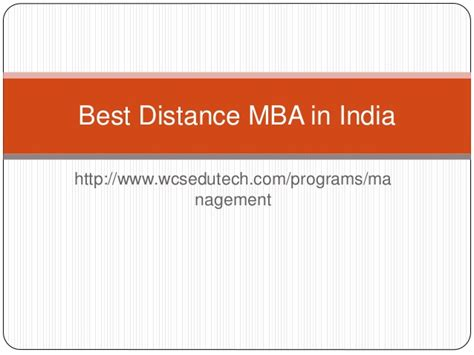 Best For Mba Distance Education In World by Best Distance Mba In India