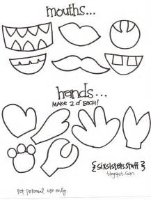 make your own monster puppets printable pattern six