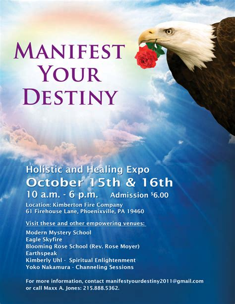 Manifest Your Destiny manifest your destiny expo to be held october 15 16