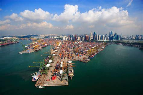 porto di singapore singapore container terminal marine vessel traffic
