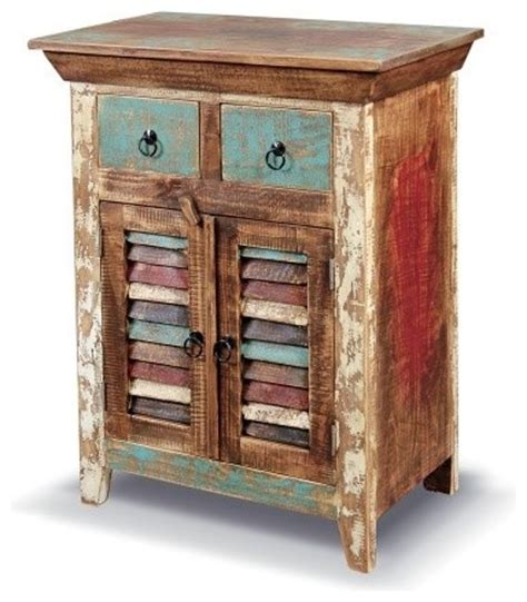 Distressed Curio Cabinet by Rustic Distressed Reclaimed Solid Wood Curio Cabinet