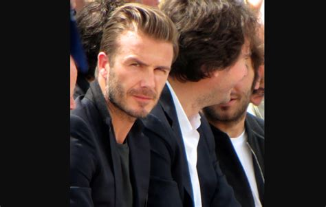 What Has Beckham Confused At Marc Show by David Beckham At Louis Vuitton Mens Wear Ss14 Luxe