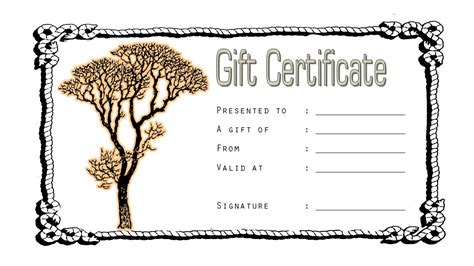 tattoo gift certificate gift certificate template gallery template design