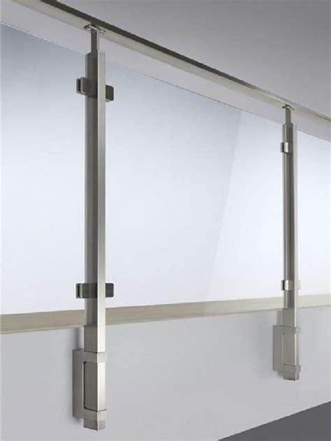 ringhiera in vetro e acciaio parapetto quadrato in acciaio inox con vetro bologna