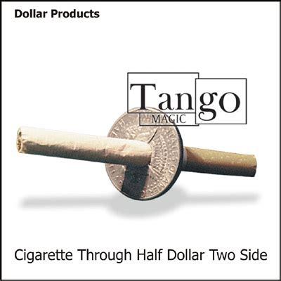 Cigarrete Through Coin cigarette thru half dollar by magic two sided