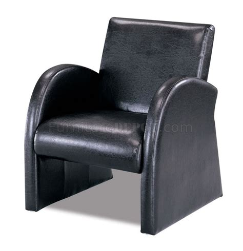 Retro Lounge Chair by Black Vinyl Finish Retro Styled Lounge Chair