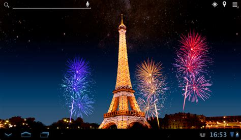 Eiffel tower fireworks lwp android apps on google play