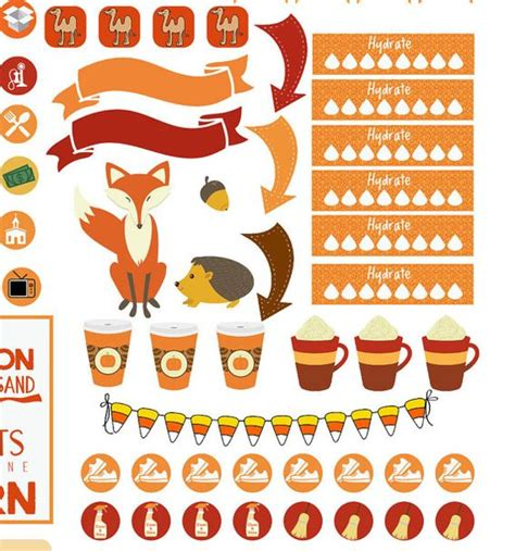 printable thanksgiving stickers pumpkins thanksgiving and printable planner stickers on