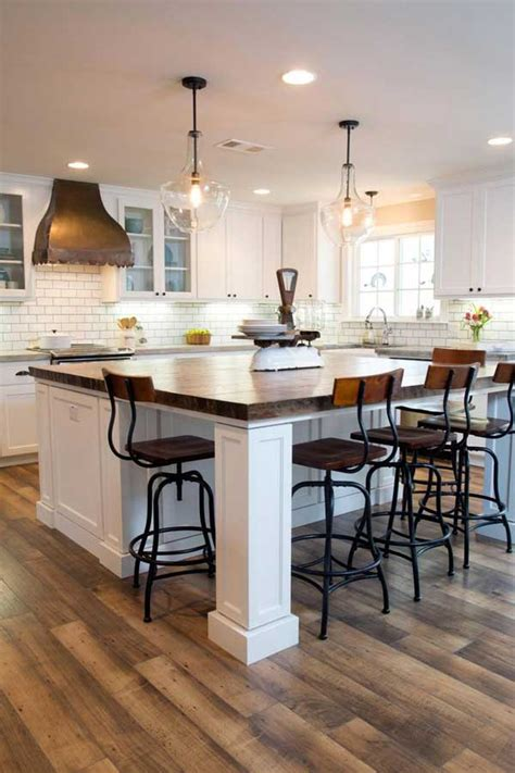 19 Must See Practical Kitchen Island Designs With Seating Kitchen Island Design Ideas With Seating