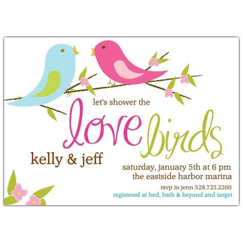 birds bridal shower invitations shower ideas