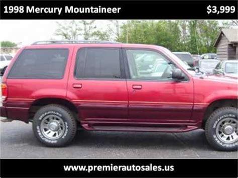 Al Piemonte Suzuki Northlake Il 1998 Mercury Mountaineer Problems Manuals And