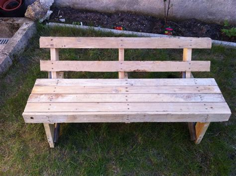 outdoor wooden bench one wood pallet garden bench