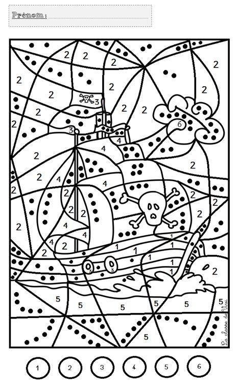 Coloriage magique chiffre ms | Bondless
