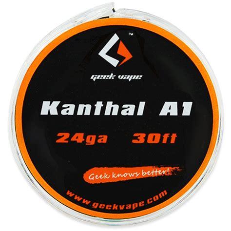 Khantal A1 24ga 15ft By Geekvape geekvape resistenza kanthal a1 24ga 10m nella categoria geekvape soluzione smoke