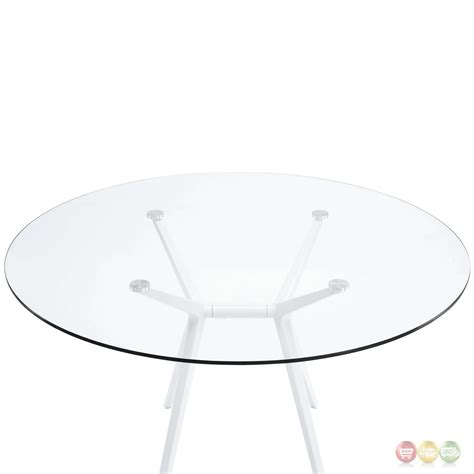 47 glass table top tilt modernistic 47 quot dining table with tempered