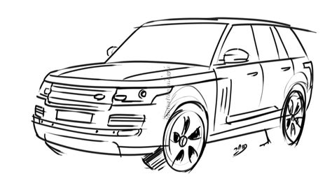 range rover sketch range rover coloring pages coloring pages