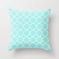 aqua pillow quatrefoil velvet aqua throw pillow
