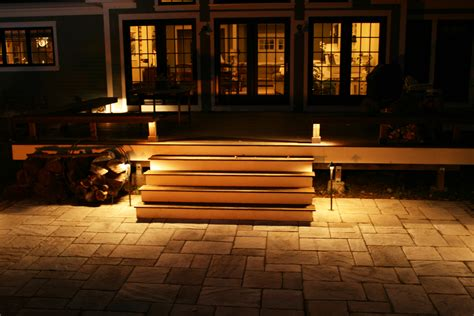 Patio Step Lights Artistic Landscapes 187 Lynnfield Ma Safe Access On Steps