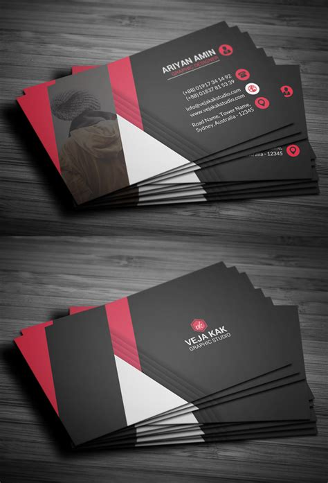 professional name card template 27 new professional business card psd templates design