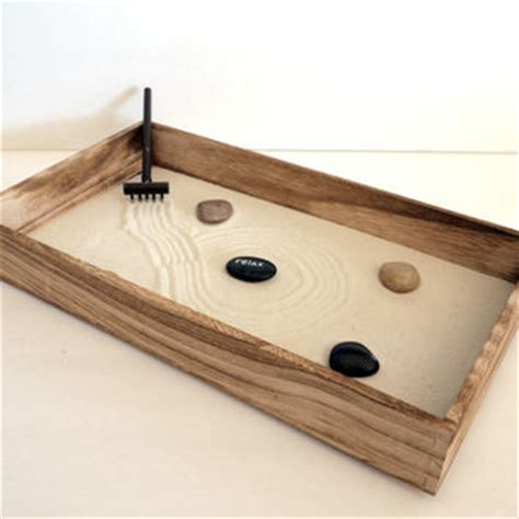Garden Desk Accessories Wooden Home Decor Zen Garden Relax Wood From