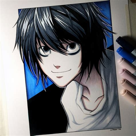 L Drawing by L From Note Drawing By Lethalchris On Deviantart